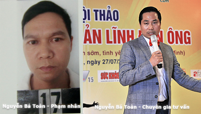 Pham nhân Nguyễn Bá Toàn và chuyên gia Nguyễn Bá Toàn là 2 người hoàn toàn khác nhau